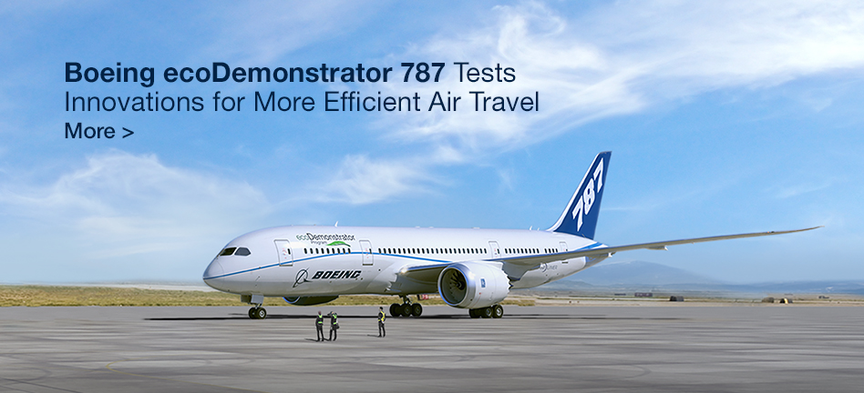 Boeing ecoDemonstrator 787 Tests Innovations for More Efficient Air Travel