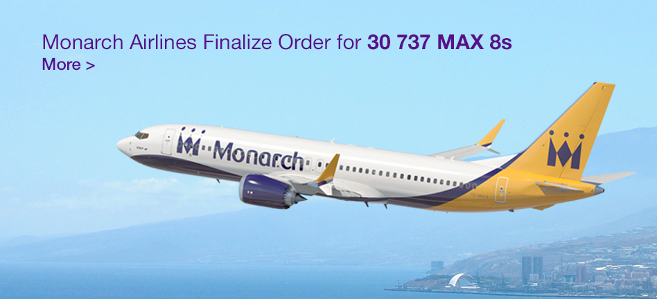 Monarch Airlines Finalize Order for 30 737 MAX 8s