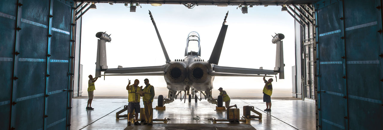 employees, F/A-18 aircraft
